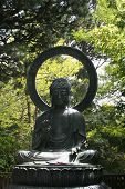 picture of budha  - Budha statue in a Japanese Garden in San Francisco - JPG