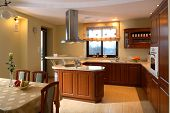 foto of curio  - Classic kitchen area of a home - JPG