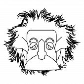 Isolated Einstein Outline poster