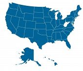 pic of usa map  - Map of USA with separable borders in vector art - JPG