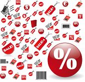 biggest Set of red price tags in jpg design