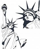 stock photo of statue liberty  - Statue of Liberty in very high detail in vector art  - JPG