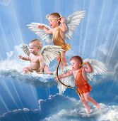 picture of baby-boy  - Baby cupid with angel wings - JPG