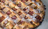 picture of torta  - A tasty and inviting rhubarb tart prepared with love - JPG