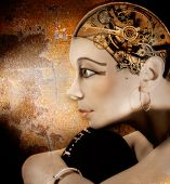 stock photo of nefertiti  - girl - JPG