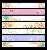 Floral website banners. 468x60 & 730x90 sizes / Floral collection