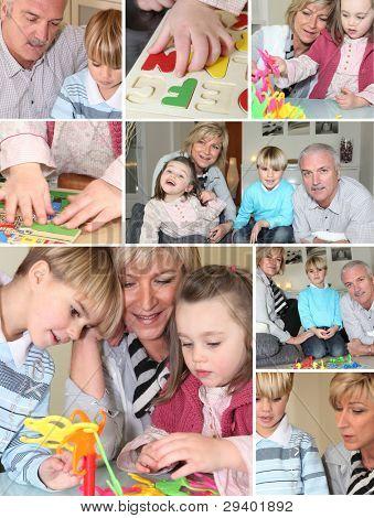 Großeltern und Enkeln