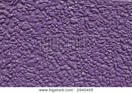 Purple Painted Stone Wall