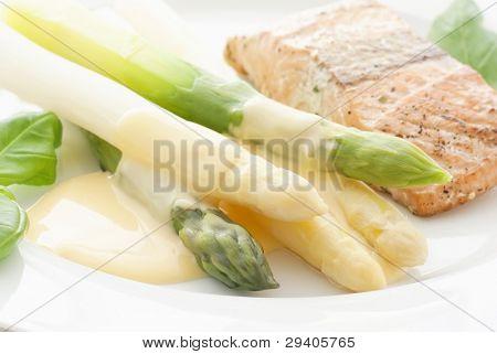 Asparagus with Wild Salmon