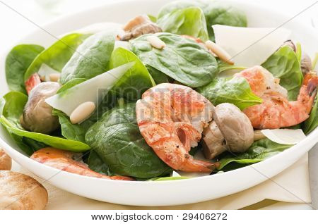 Prawn with Spinach