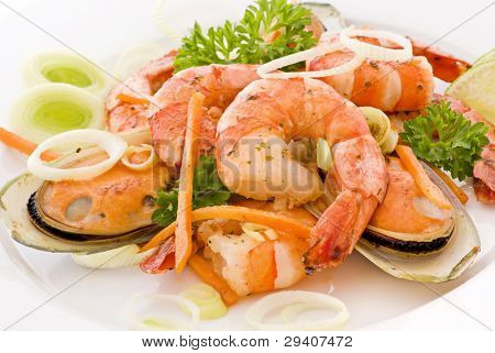 Shrimps and Mussels