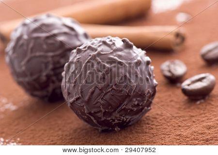 Chocolate Truffle with Cocoa powder