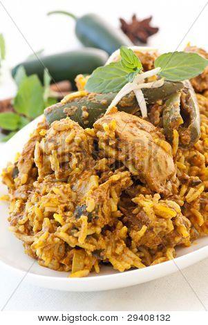 Biryani with chicken