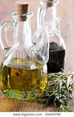 Aceite y vinagre balsámico