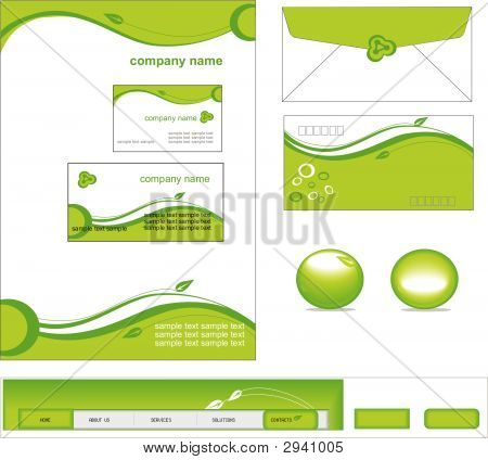 Vecter Of Business Stationery Set