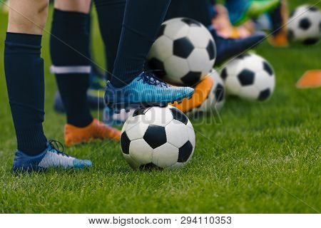 Junior Football Training Session Players