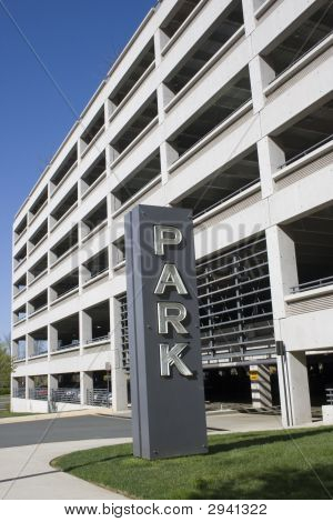 Park Sign At Public Garage
