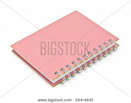 Stack Of Ring Binder Book Or Pink Notebook