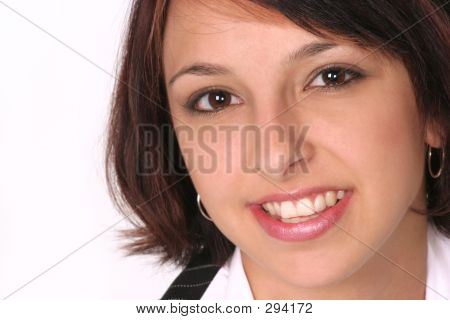 Closeup Of Girl Smiling At You