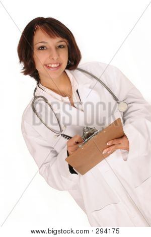 Medical Worker Writing