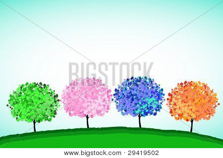 Colorful Trees.