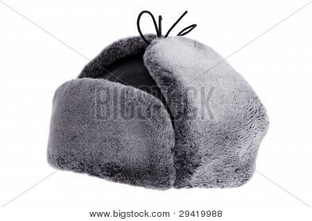 Winter Hat Ear Flaps With Raised Ears