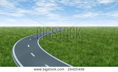 Horizon With Curved Highway