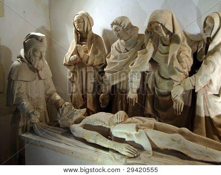 Sculpture Of Christ's Entombment, Late 15Rh Century,