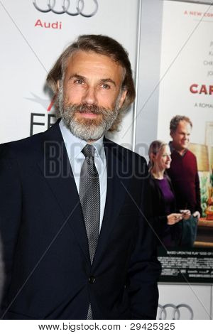LOS ANGELES - NOV 5:  Christoph Waltz arrives at the AFI FEST 2011 Gala Screening of