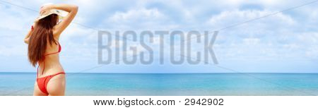 Beach. Banner.