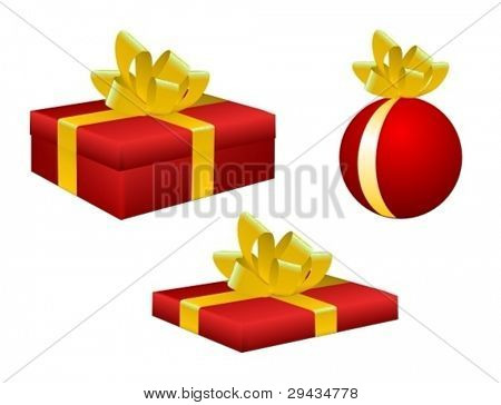 Various vector gift boxes