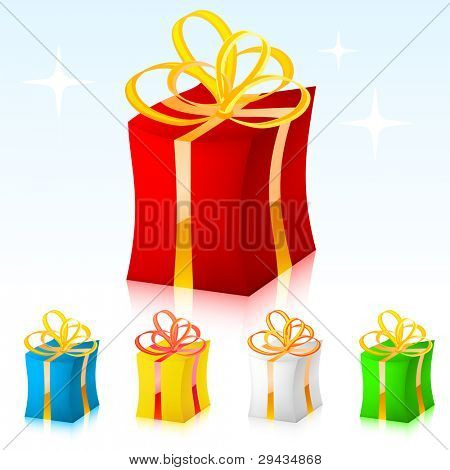 Colored vector gift