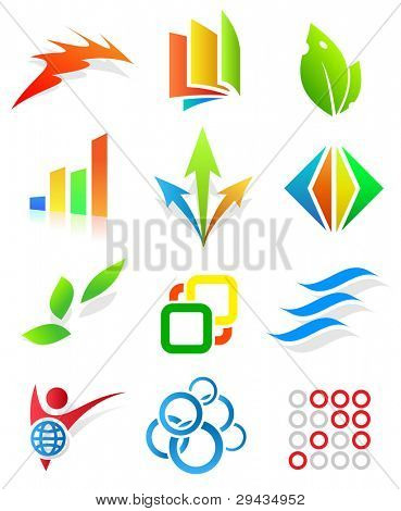 Colorful design elements 2. Editable vector.
