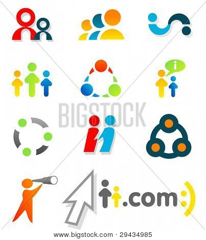 Colorful design elements 4. Editable vector.