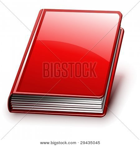 Easy to edit vector book with shadow (version without signs on cover).