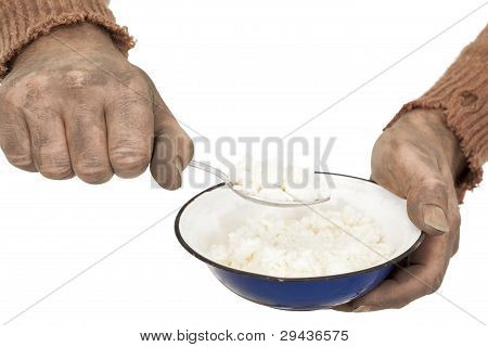 Poor Man Eats Rice