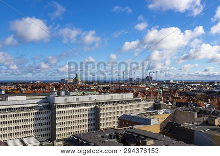poster of Beautiful View Of The Copenhagen From Top On Round Tower