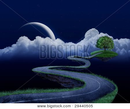 The Road To Tree - Night Time