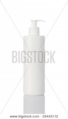 Blank cosmetics bottle