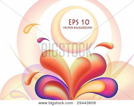 Colorful Vector Orange Bubbles Design