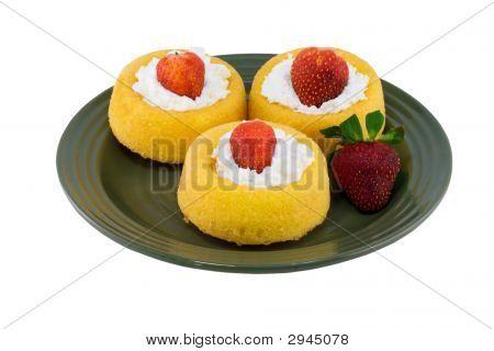 Trio Of Strawberry Shortcakes