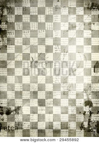 Abstract Chess  Background For Design With Grunge Papers