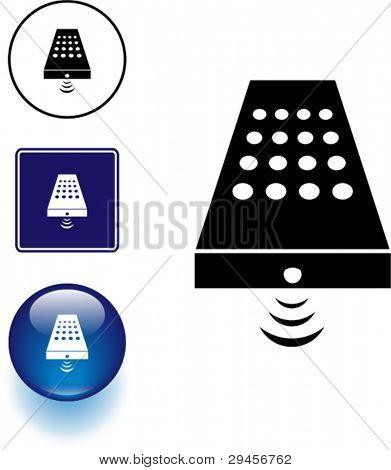 botón y signo de símbolo de control remoto