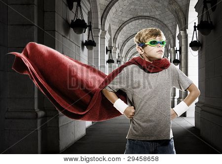 Child Pretending to be a Super Hero