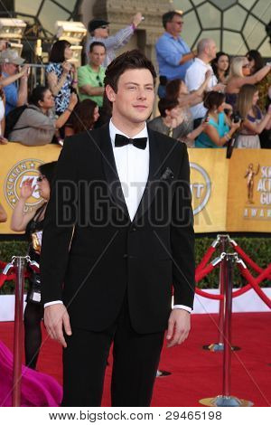LOS ANGELES - JAN 29:  Cory Monteith arrives at the 18th Annual Screen Actors Guild Awards at Shrine Auditorium on January 29, 2012 in Los Angeles, CA