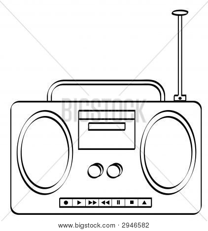 Boombox Outline