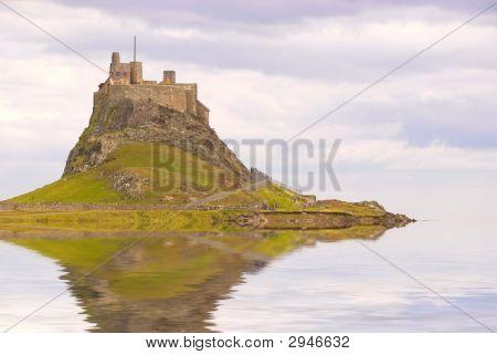 Lindisfarne Castle As An Island