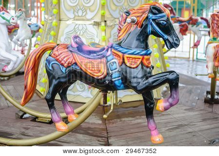 Carousel In The Park Of Brest