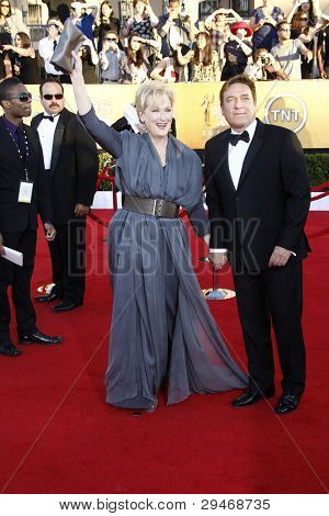 LOS ANGELES, CA - JAN 29: Meryl Streep at the 18th annual Screen Actor Guild Awards at the Shrine Auditorium on January 29, 2012 in Los Angeles, California