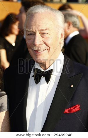 LOS ANGELES, CA - JAN 29: Christopher Plummer at the 18th annual Screen Actor Guild Awards at the Shrine Auditorium on January 29, 2012 in Los Angeles, California